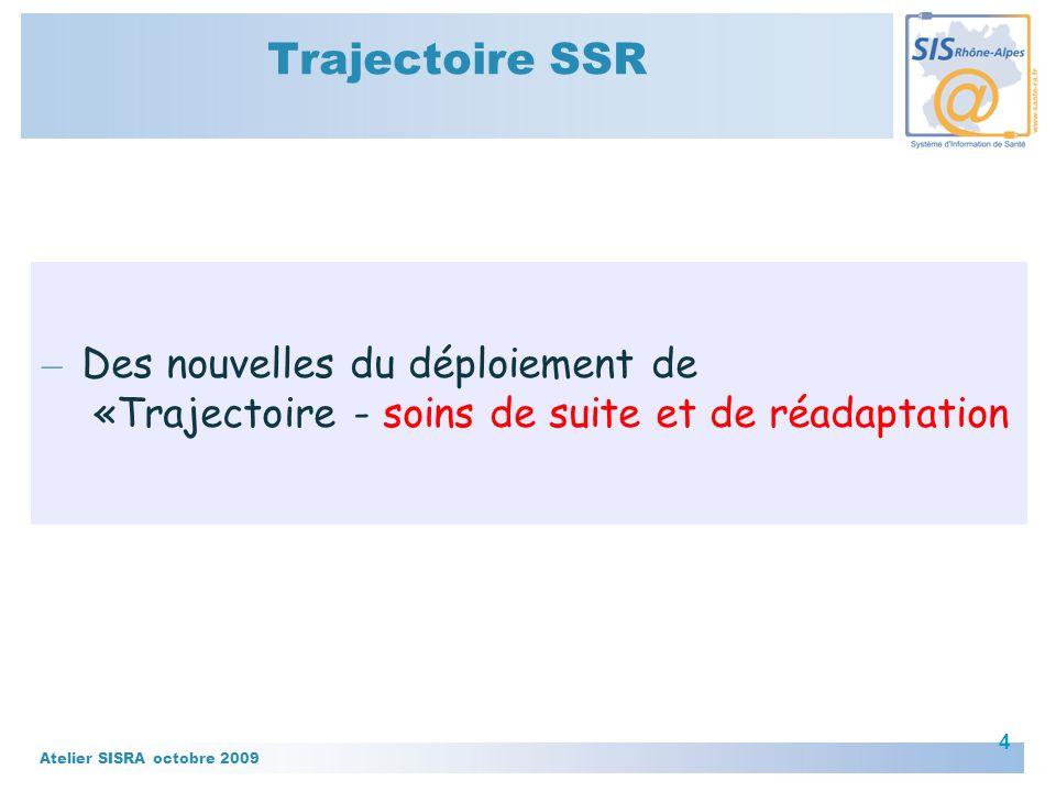 Trajectoire SSR Des nouvelles du déploiement de «Trajectoire - soins de suite et de réadaptation