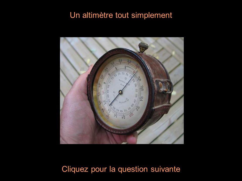 Un altimètre tout simplement