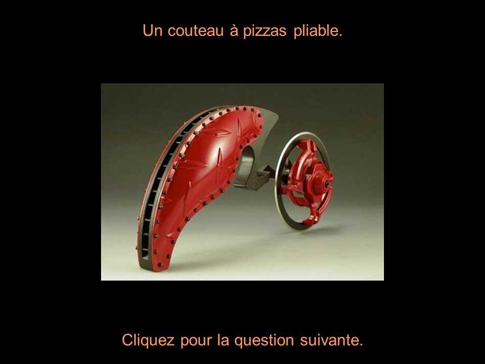 Un couteau à pizzas pliable.