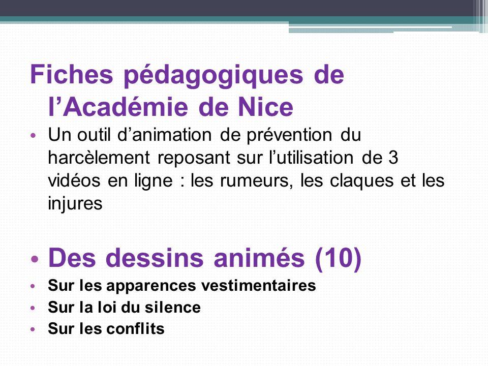 Fiches pédagogiques de l'Académie de Nice