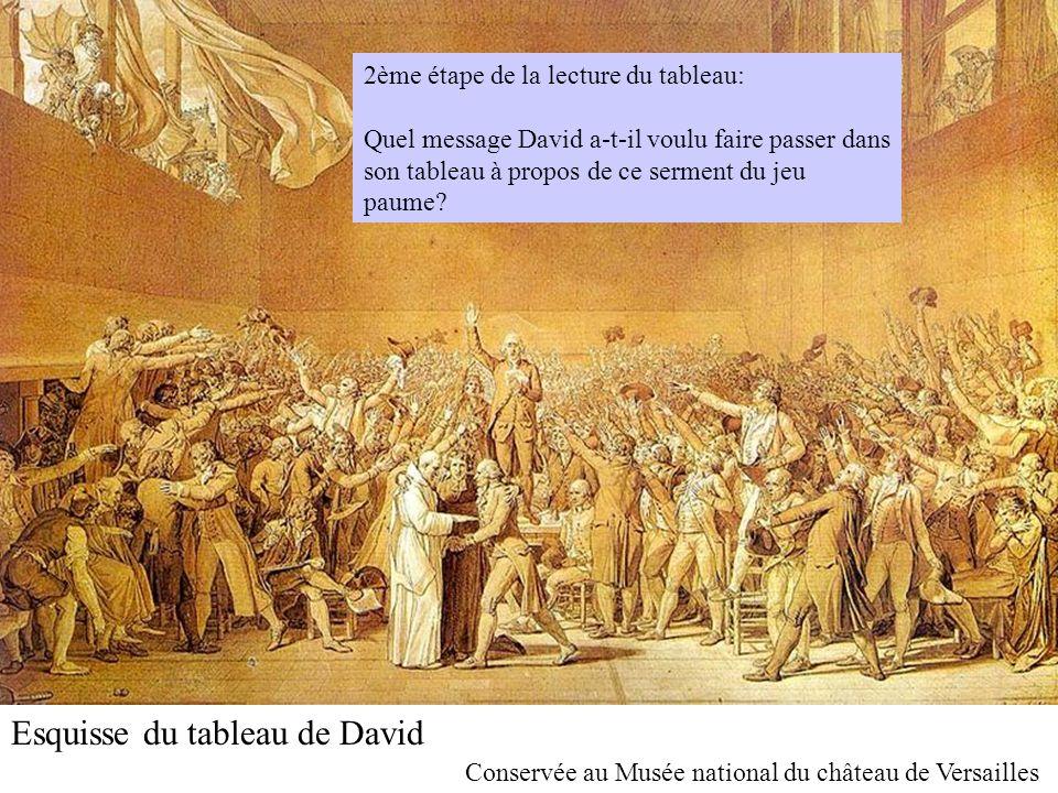 Esquisse du tableau de David