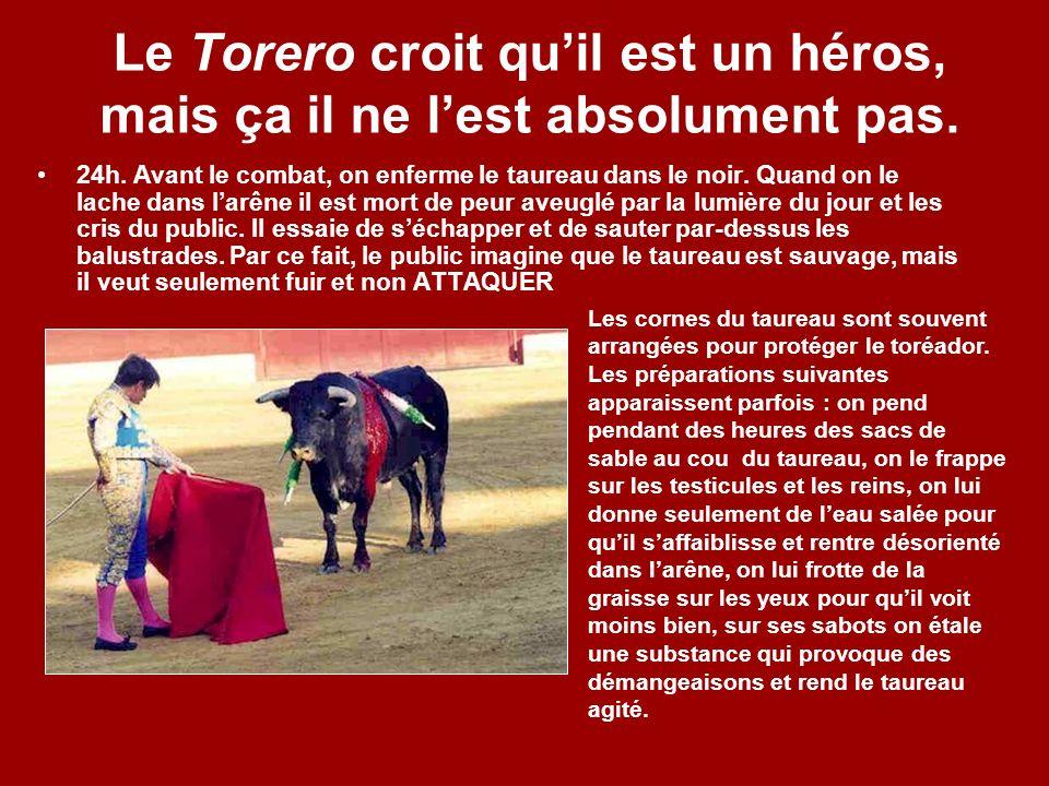 Le Torero croit qu'il est un héros, mais ça il ne l'est absolument pas.