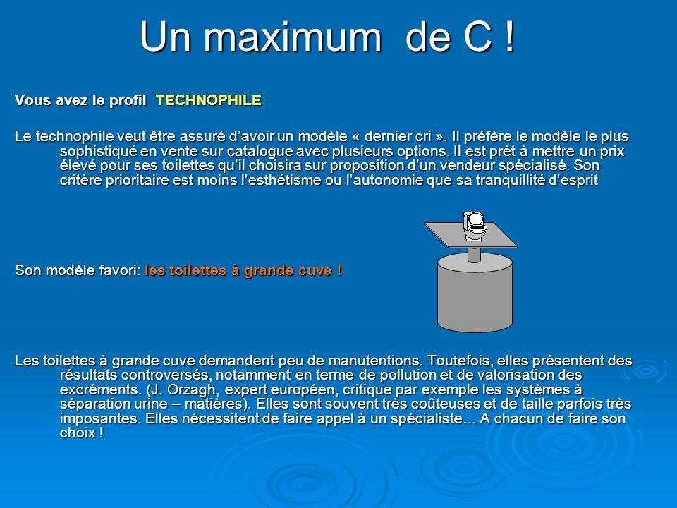 Un maximum de C ! Vous avez le profil TECHNOPHILE