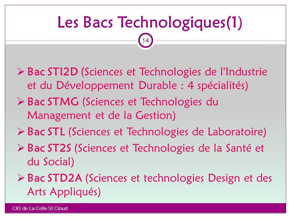 Les Bacs Technologiques(1)