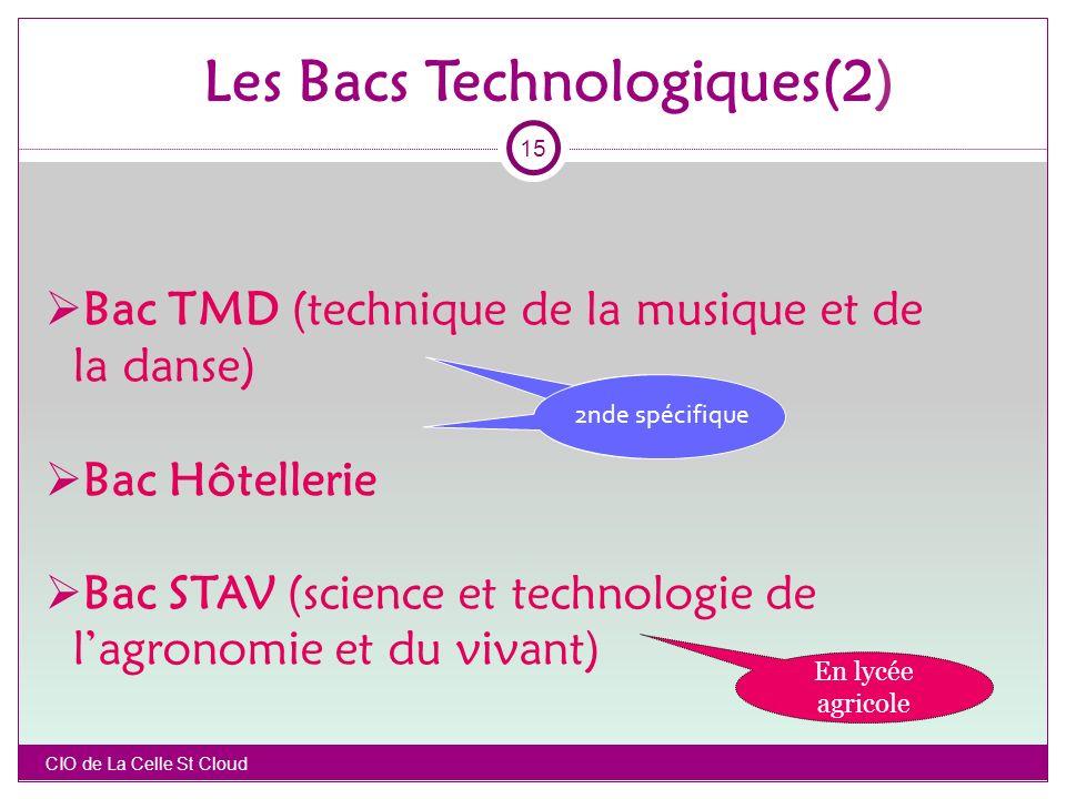 Les Bacs Technologiques(2)