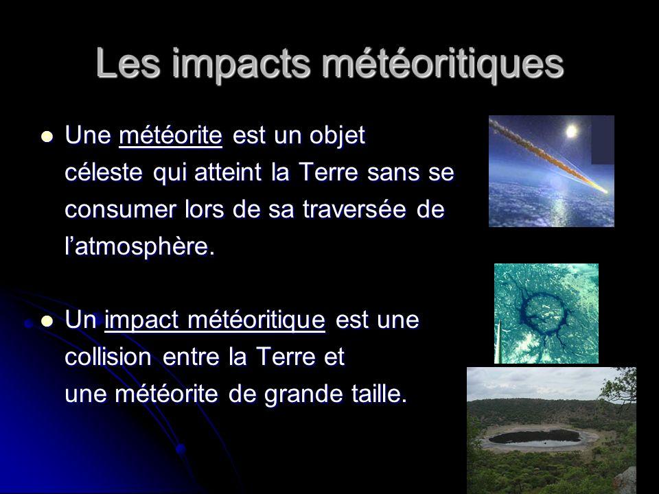 Les impacts météoritiques