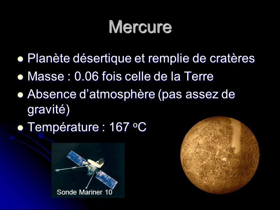 Mercure Planète désertique et remplie de cratères