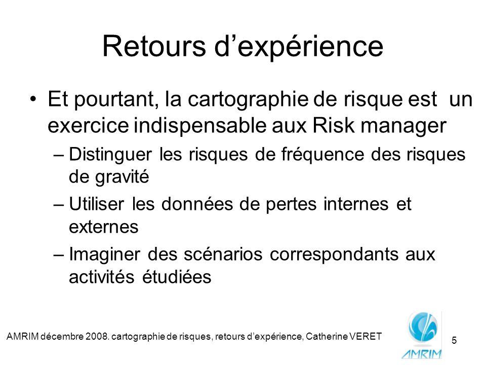Retours d'expérience Et pourtant, la cartographie de risque est un exercice indispensable aux Risk manager.
