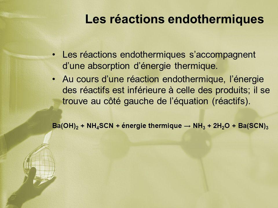 Les réactions endothermiques
