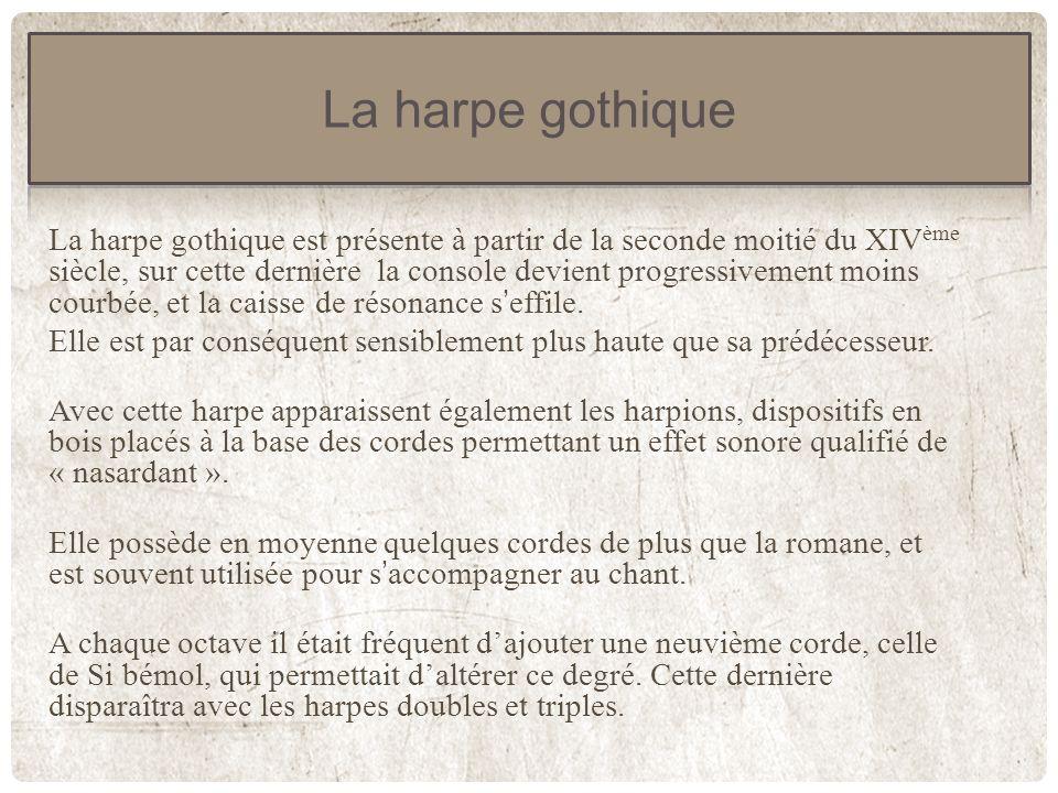La harpe gothique