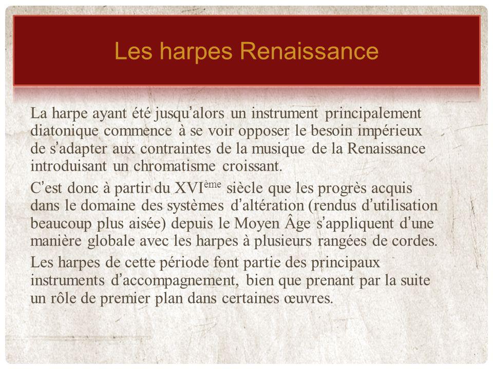 Les harpes Renaissance