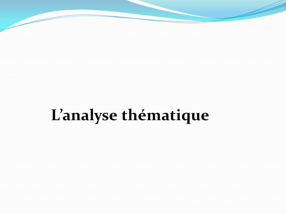 L'analyse thématique