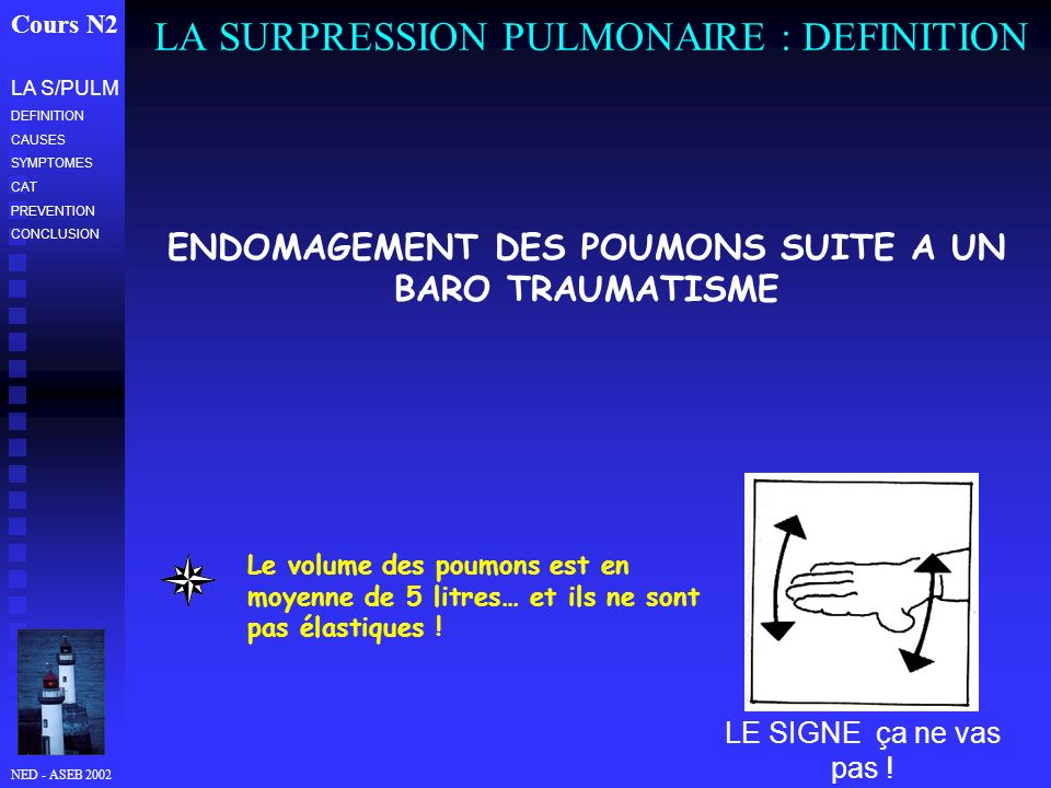 LA SURPRESSION PULMONAIRE : DEFINITION