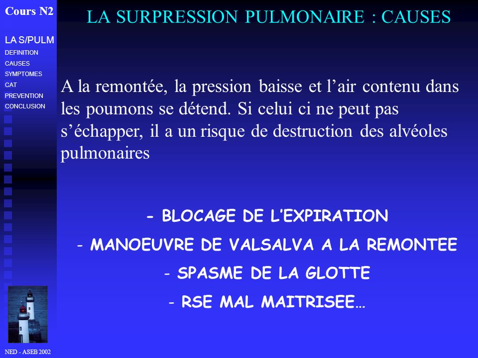 LA SURPRESSION PULMONAIRE : CAUSES