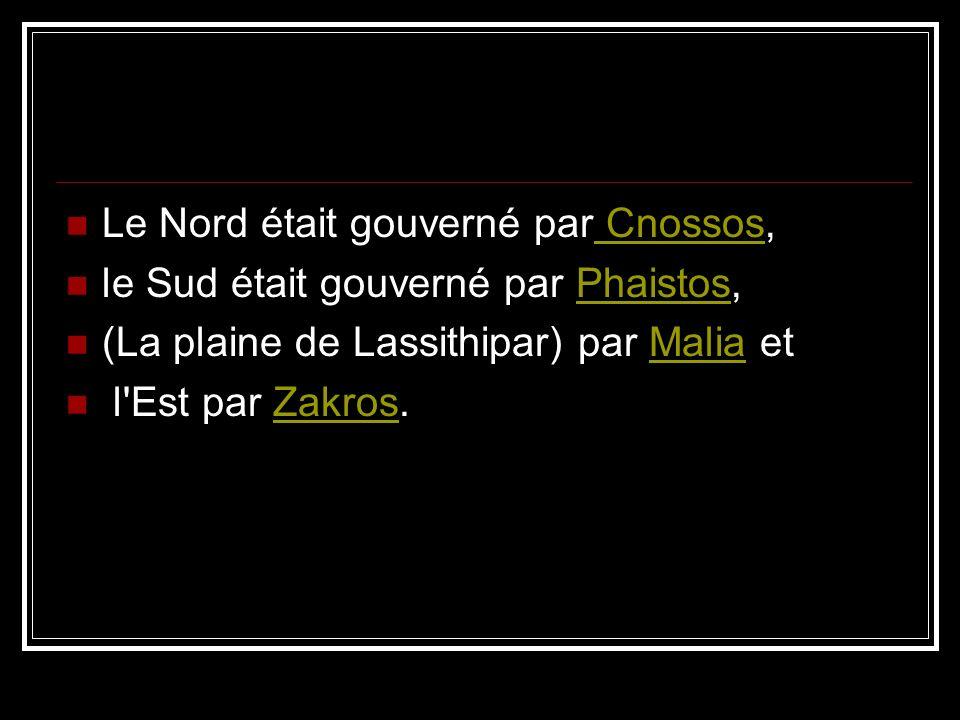 Le Nord était gouverné par Cnossos,