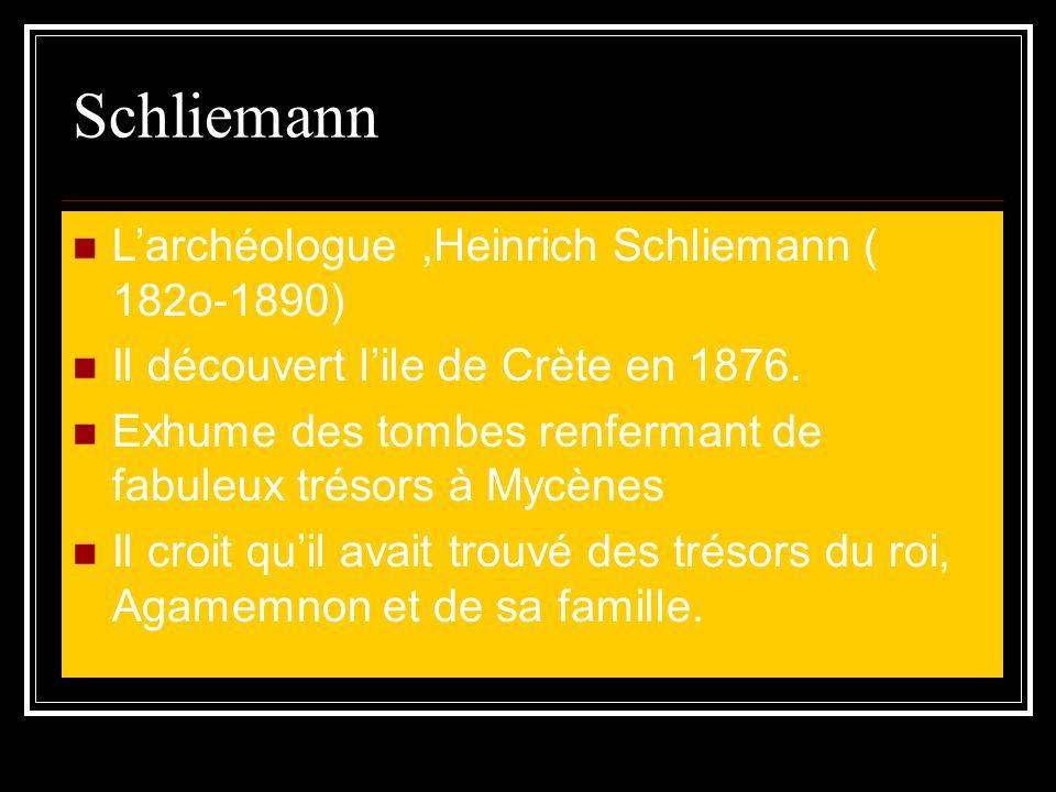 Schliemann L'archéologue ,Heinrich Schliemann ( 182o-1890)