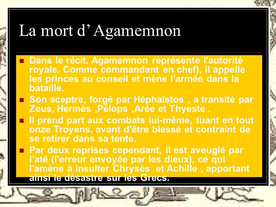 La mort d' Agamemnon