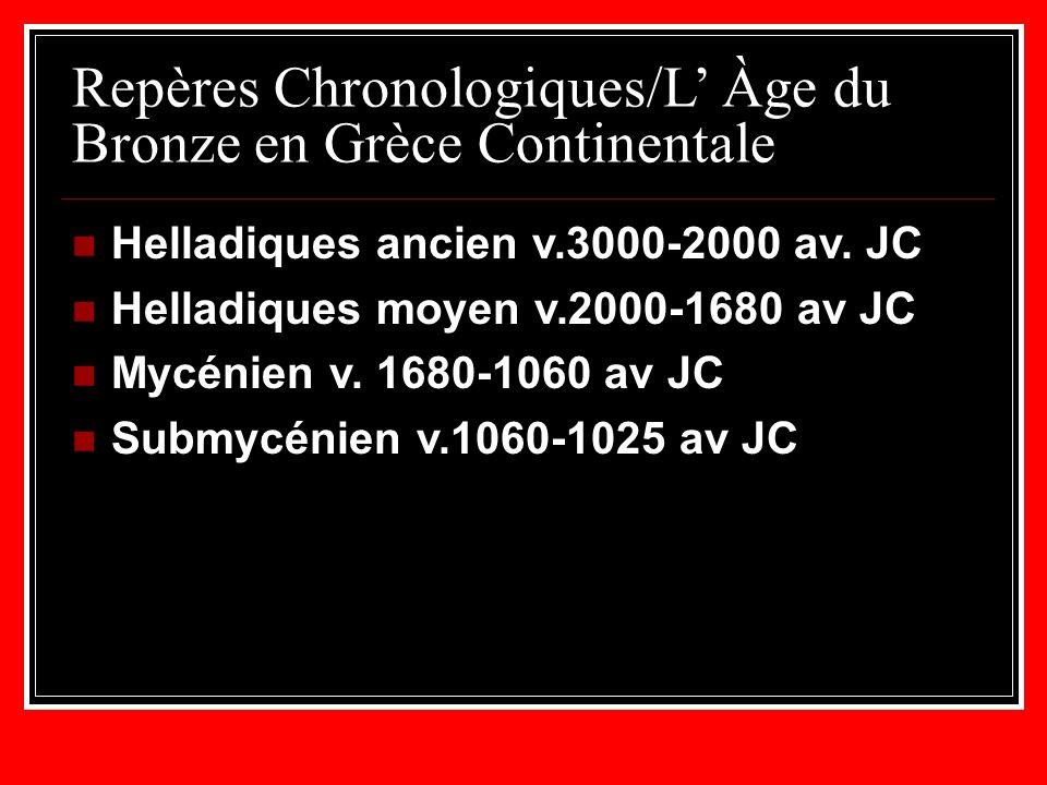 Repères Chronologiques/L' Àge du Bronze en Grèce Continentale