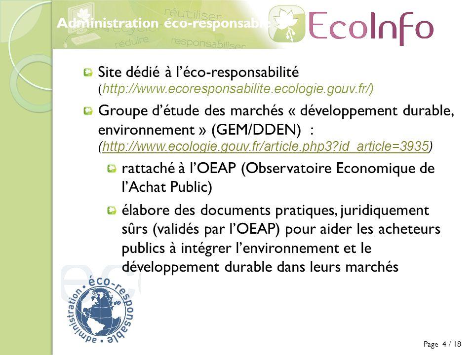 rattaché à l'OEAP (Observatoire Economique de l'Achat Public)