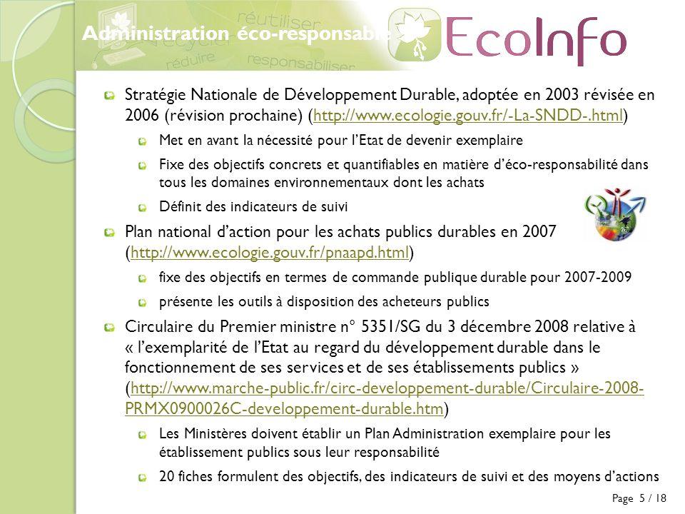 Administration éco-responsable