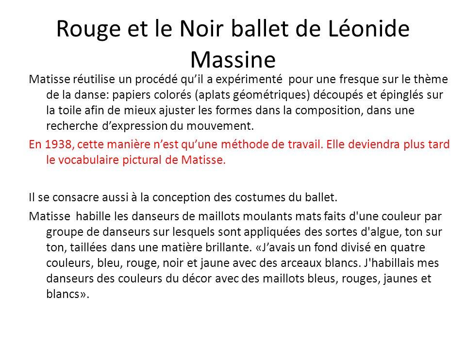 Rouge et le Noir ballet de Léonide Massine