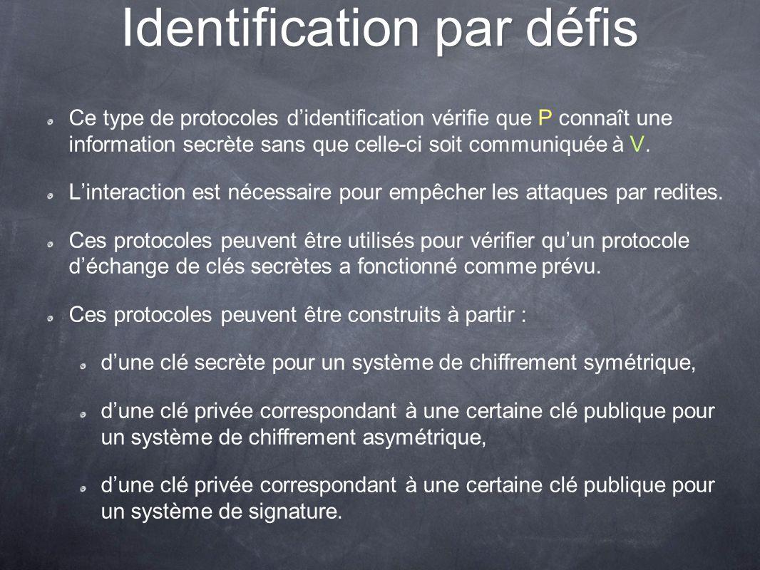 Identification par défis