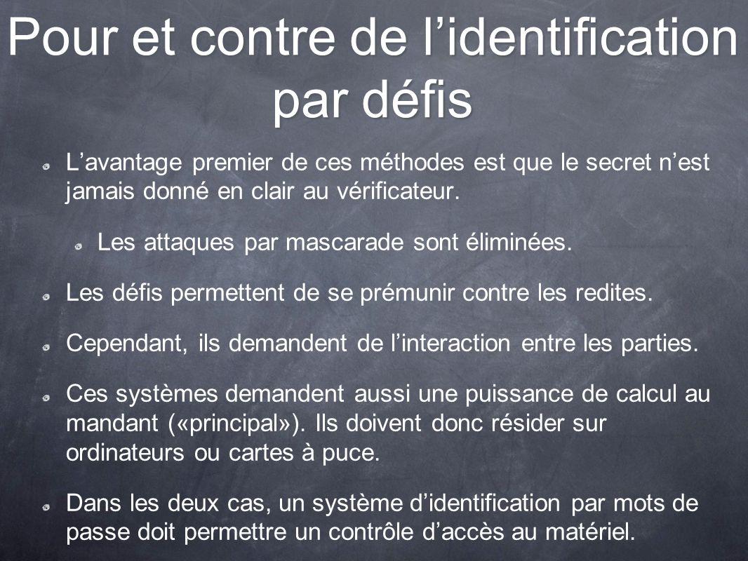 Pour et contre de l'identification par défis