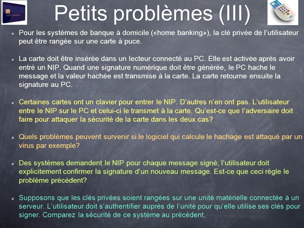 Petits problèmes (III)