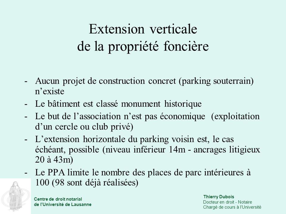 Extension verticale de la propriété foncière