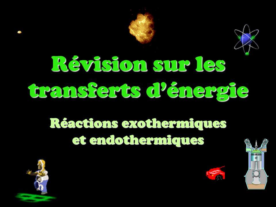 Révision sur les transferts d'énergie