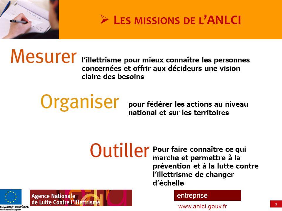 Les missions de l'ANLCI