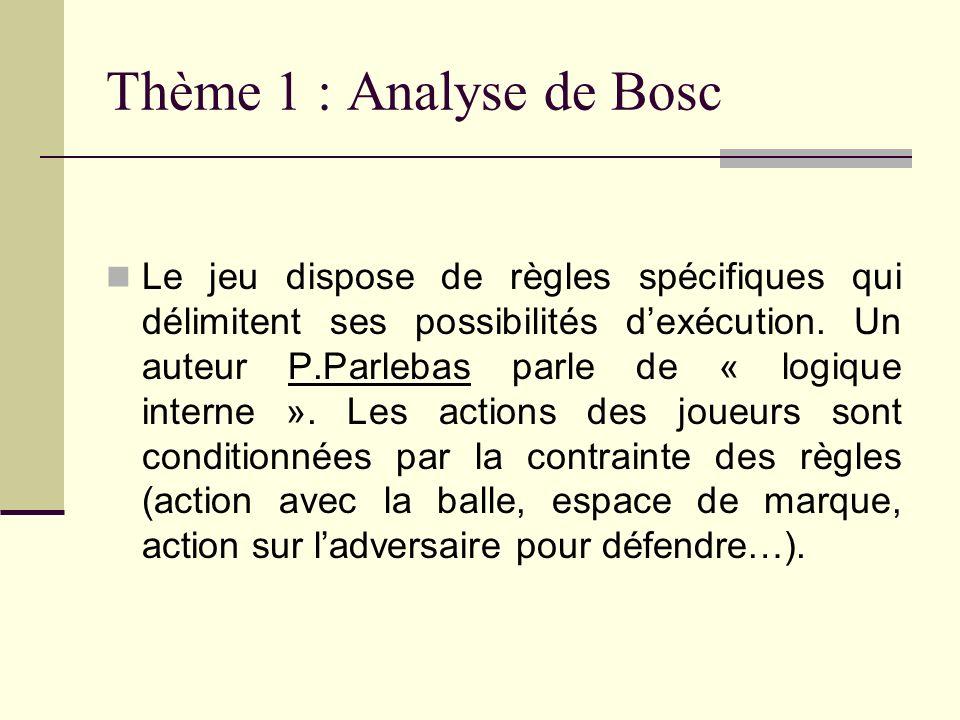 Thème 1 : Analyse de Bosc
