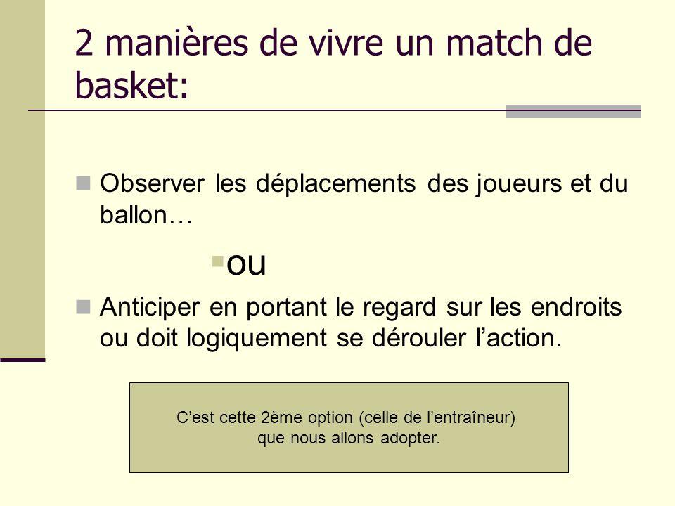 2 manières de vivre un match de basket: