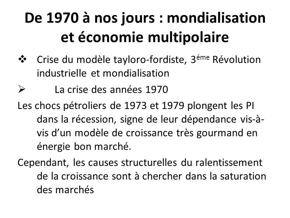 De 1970 à nos jours : mondialisation et économie multipolaire