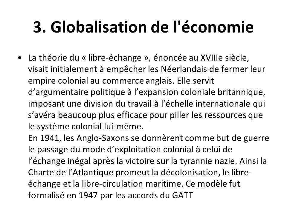 3. Globalisation de l économie