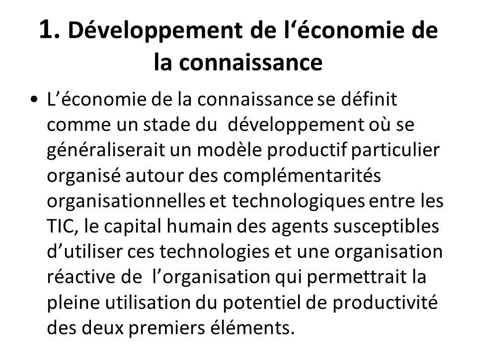 1. Développement de l'économie de la connaissance