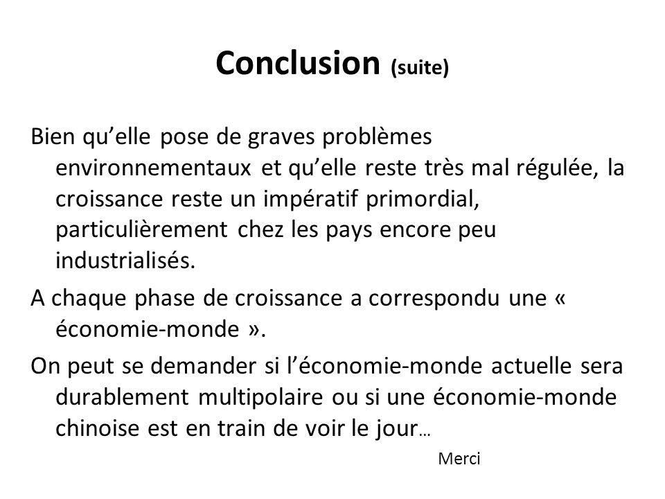 Conclusion (suite)
