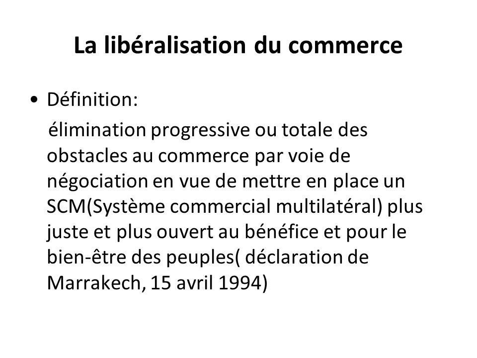 La libéralisation du commerce