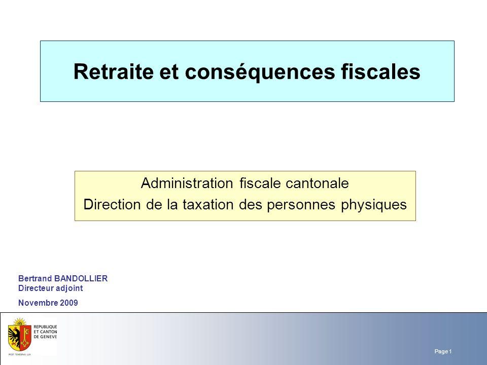 Retraite et conséquences fiscales