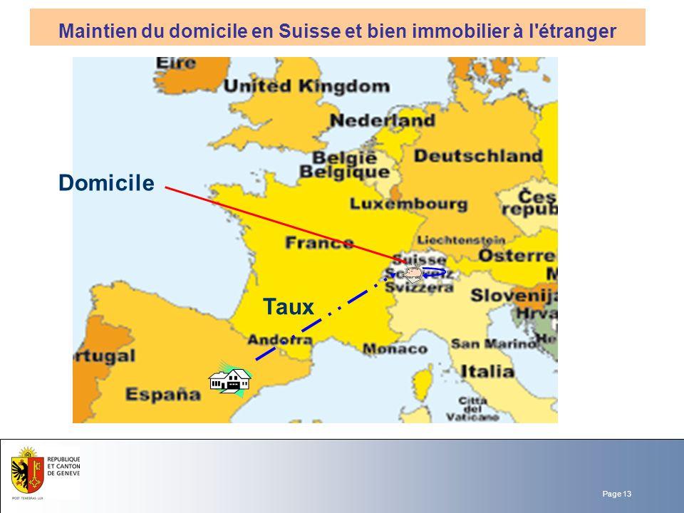 Maintien du domicile en Suisse et bien immobilier à l étranger