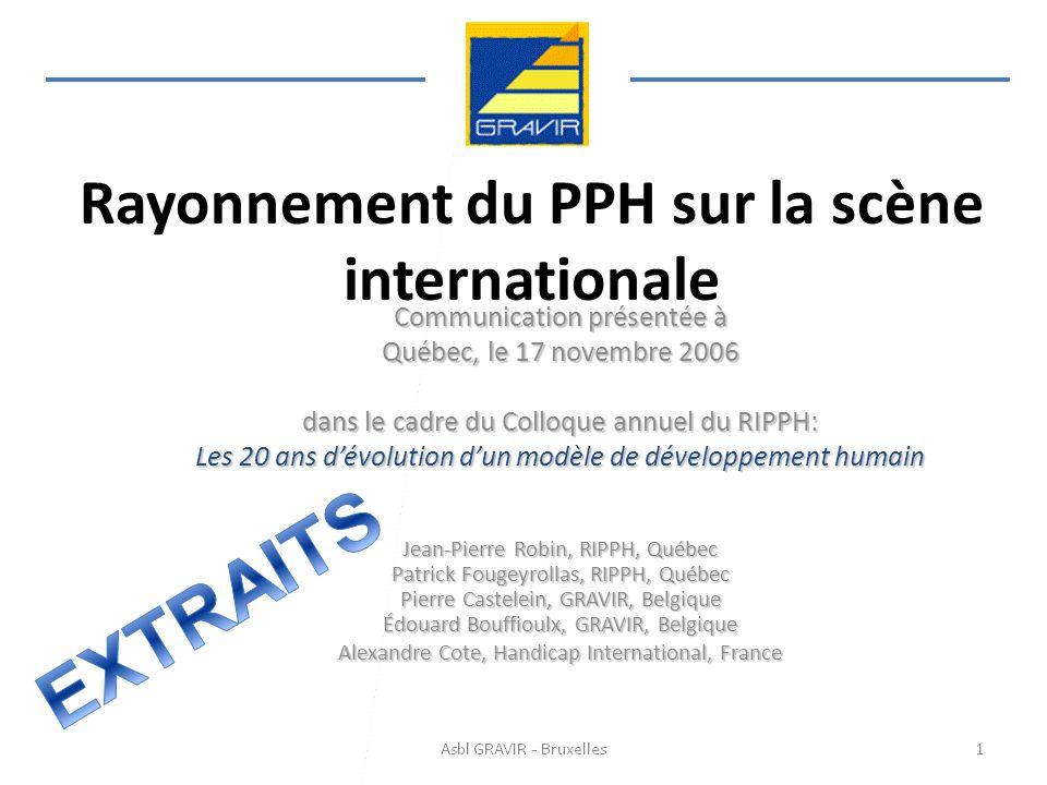 Rayonnement du PPH sur la scène internationale