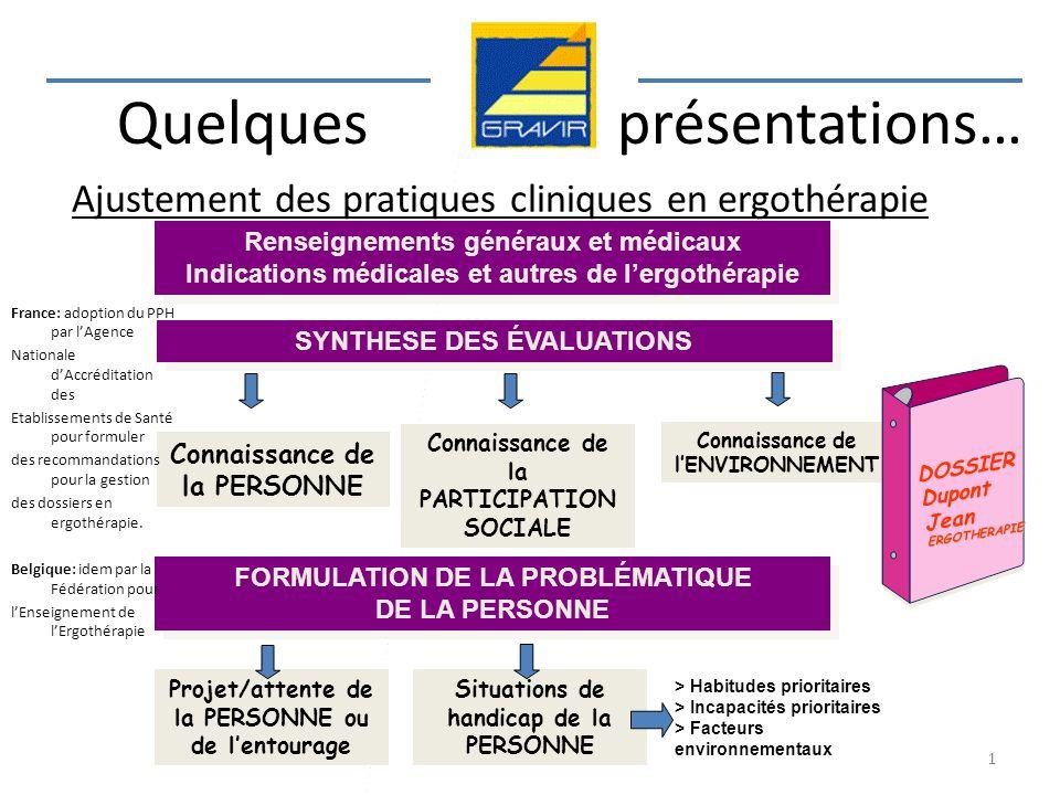 Ajustement des pratiques cliniques en ergothérapie