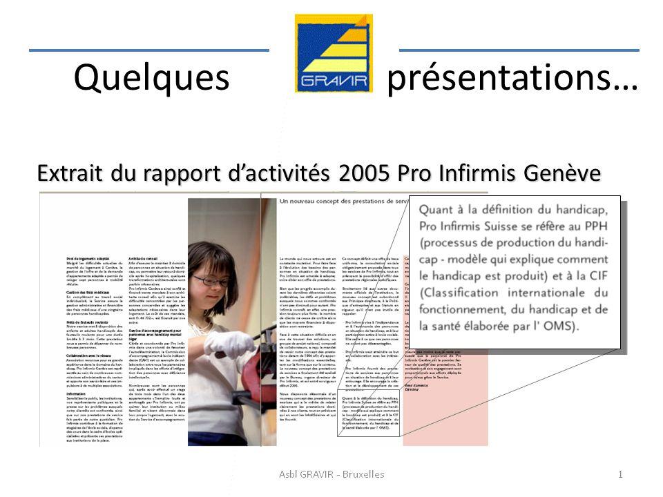 Extrait du rapport d'activités 2005 Pro Infirmis Genève