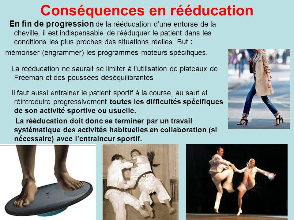 Conséquences en rééducation