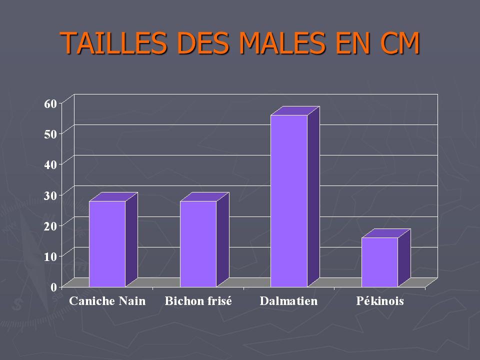 Catherine 31/03/2017 TAILLES DES MALES EN CM