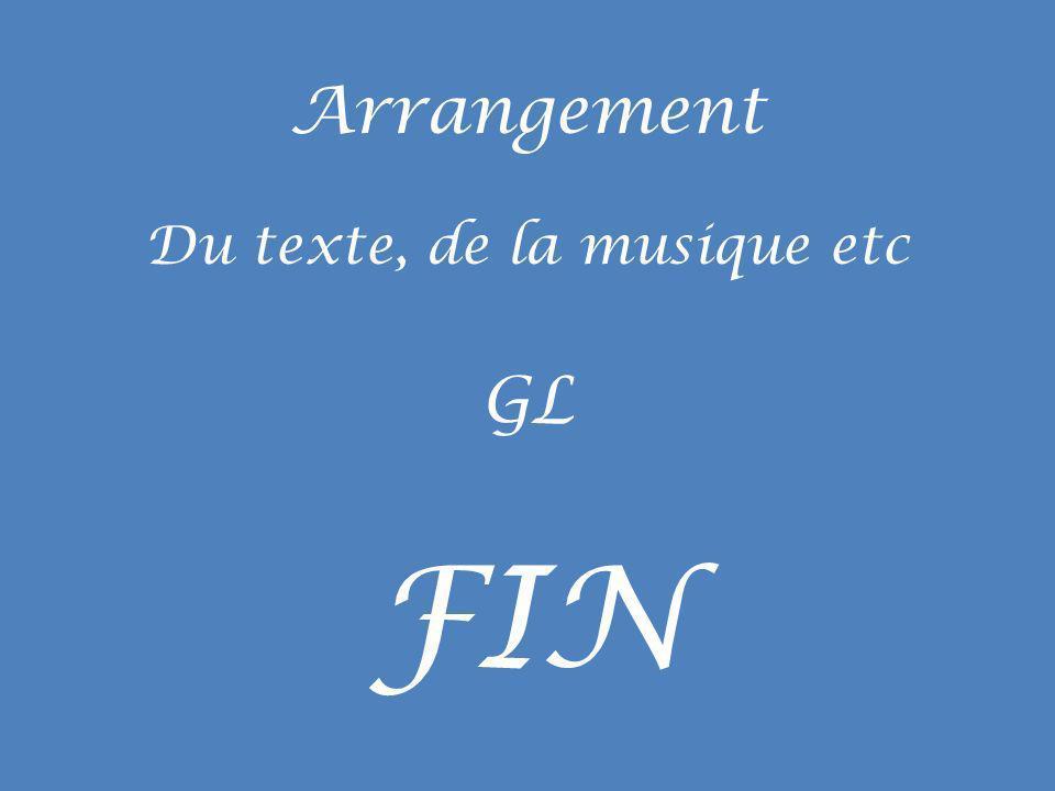 Du texte, de la musique etc