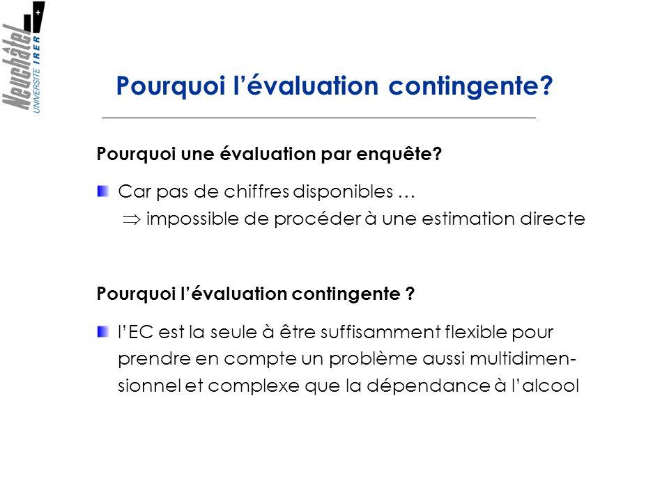 Pourquoi l'évaluation contingente