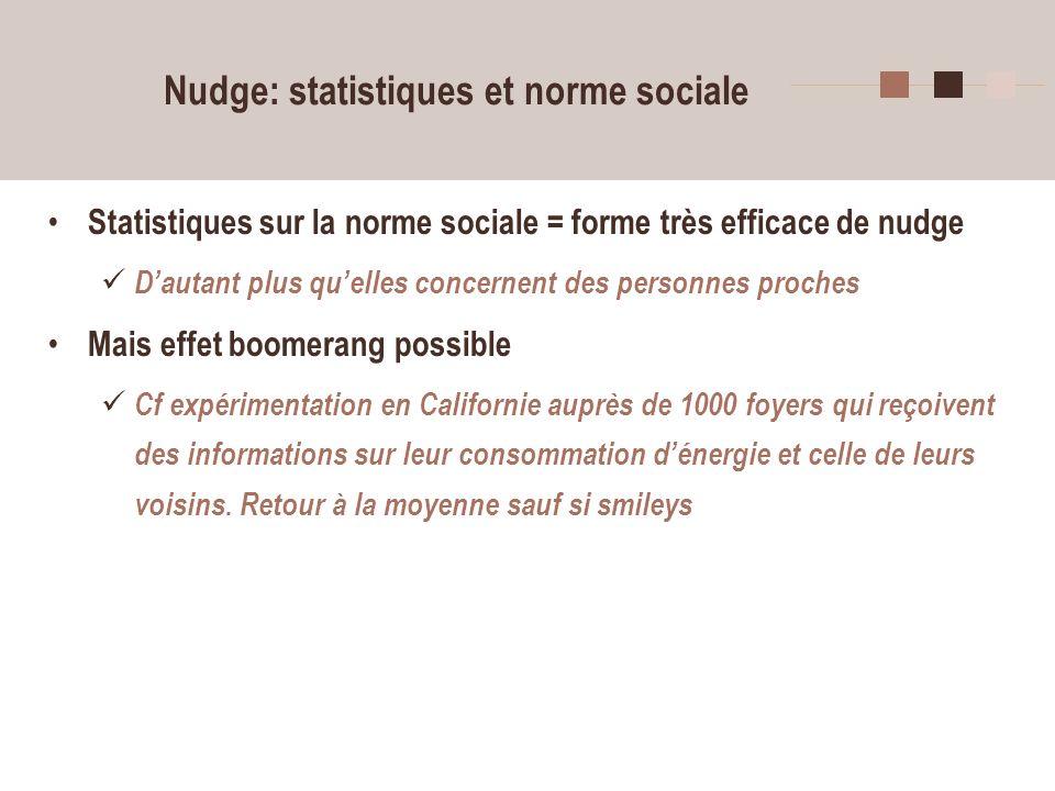Nudge: statistiques et norme sociale