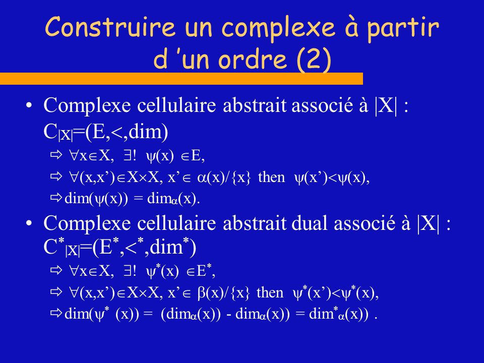 Construire un complexe à partir d 'un ordre (2)