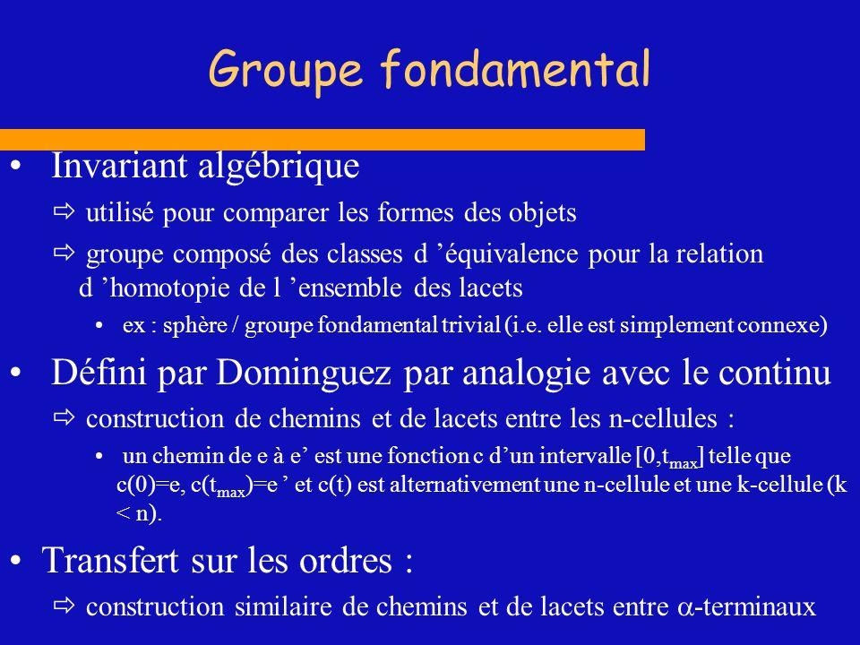 Groupe fondamental Invariant algébrique